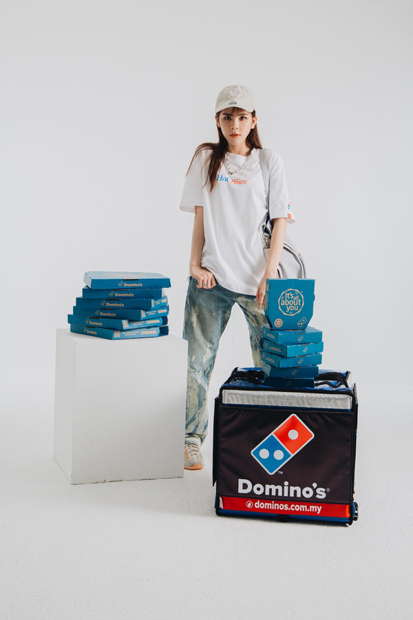 Domino's x TNTCO | Hot Slice Tee White