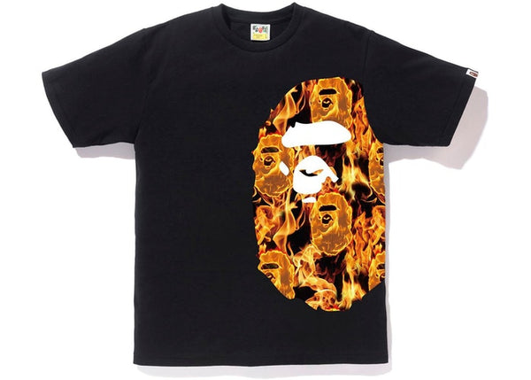 Bape | Flame Side Big Ape Head Tee Black/Orange