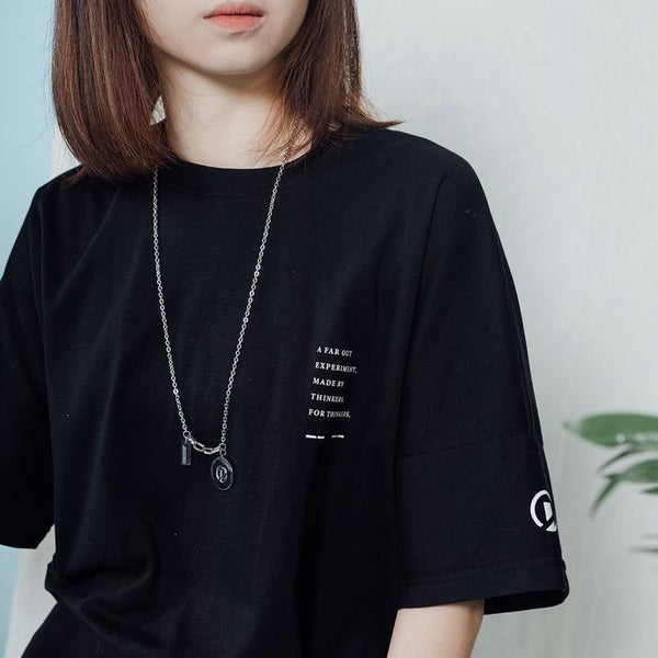 Dr Mister | Essential Dropped Oversized Tee Black