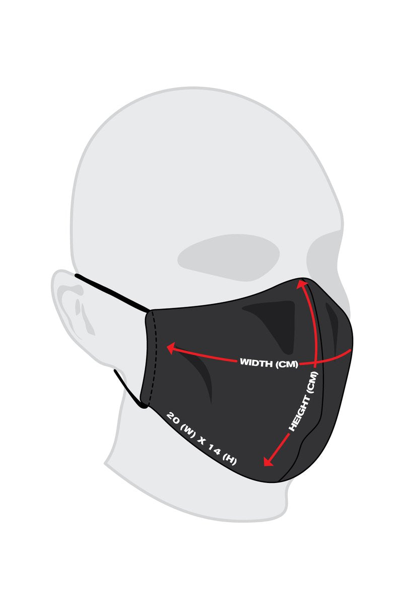 PMC x Looney Tunes Bugs Bunny Blueprint Face Mask Black