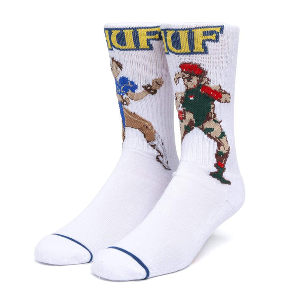 Street Fighter x HUF | Chun Li & Cammy Socks White