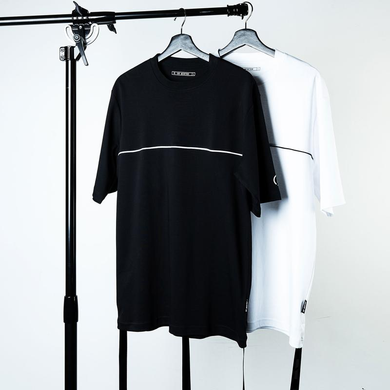 Dr Mister | Essential Piped Oversized Double Strap Tee White