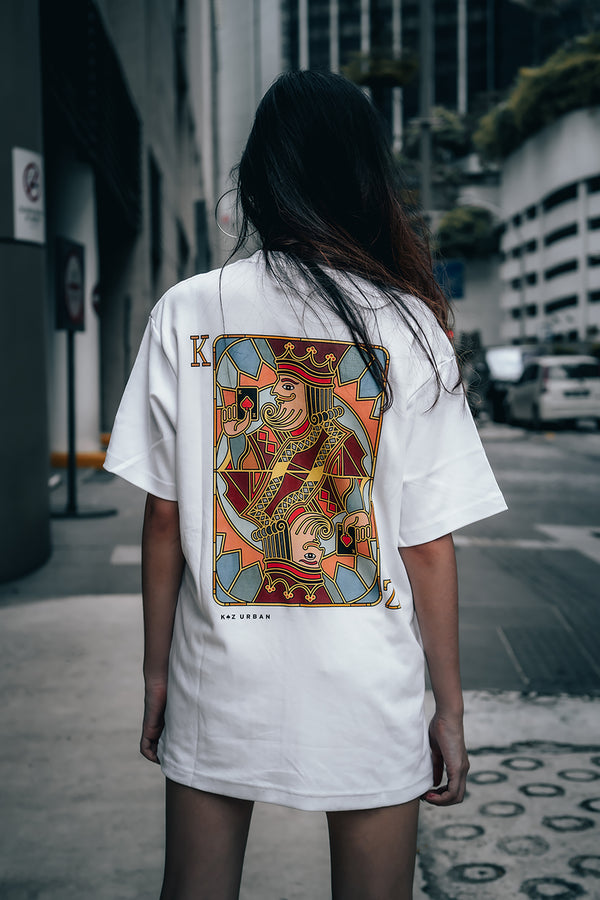 KZ | Mosaic King Tee White