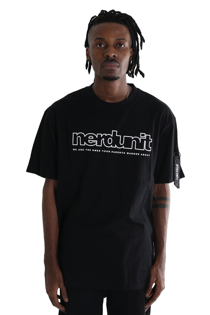 Nerd Unit | Outline Tee Black