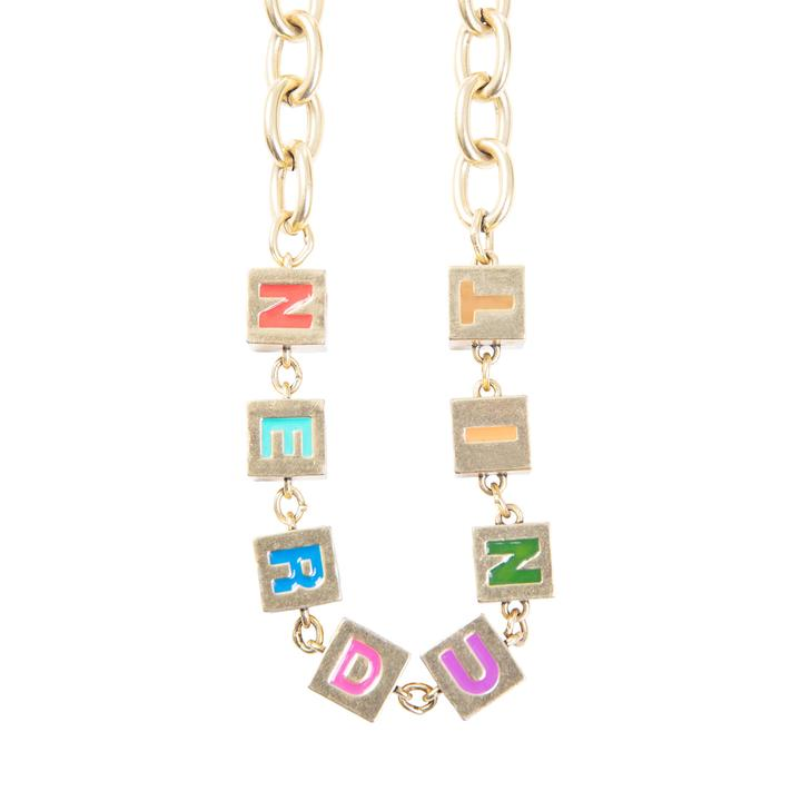 Nerd Unit | Alphabets Necklace Gold