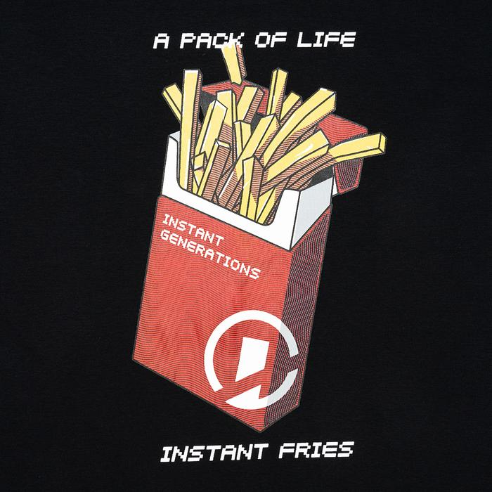 Dr Mister | Instant Generation Fries Tee Black
