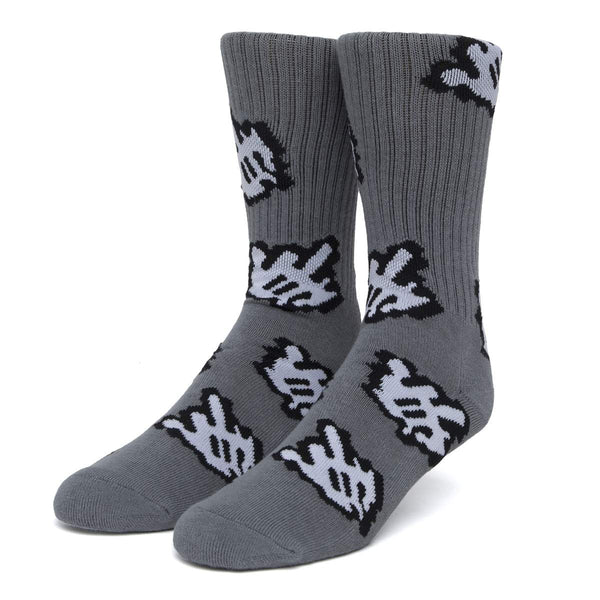 HUF | Fuck It Cursor Socks Charcoal
