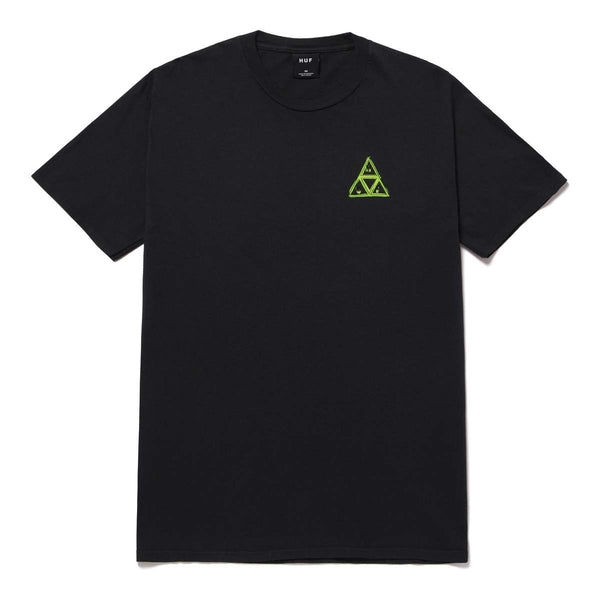 HUF | Green Buddy Triple Triangle Tee Black