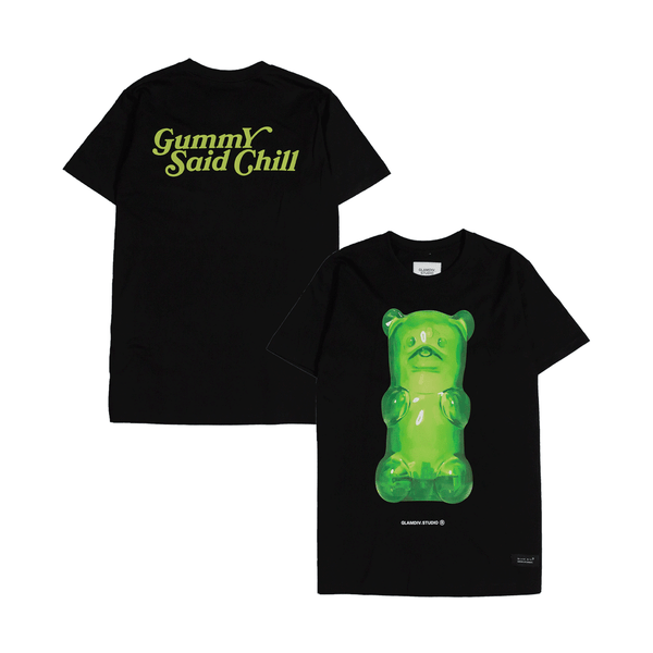 GlamDiv | Gummy Said Chill Tee Black