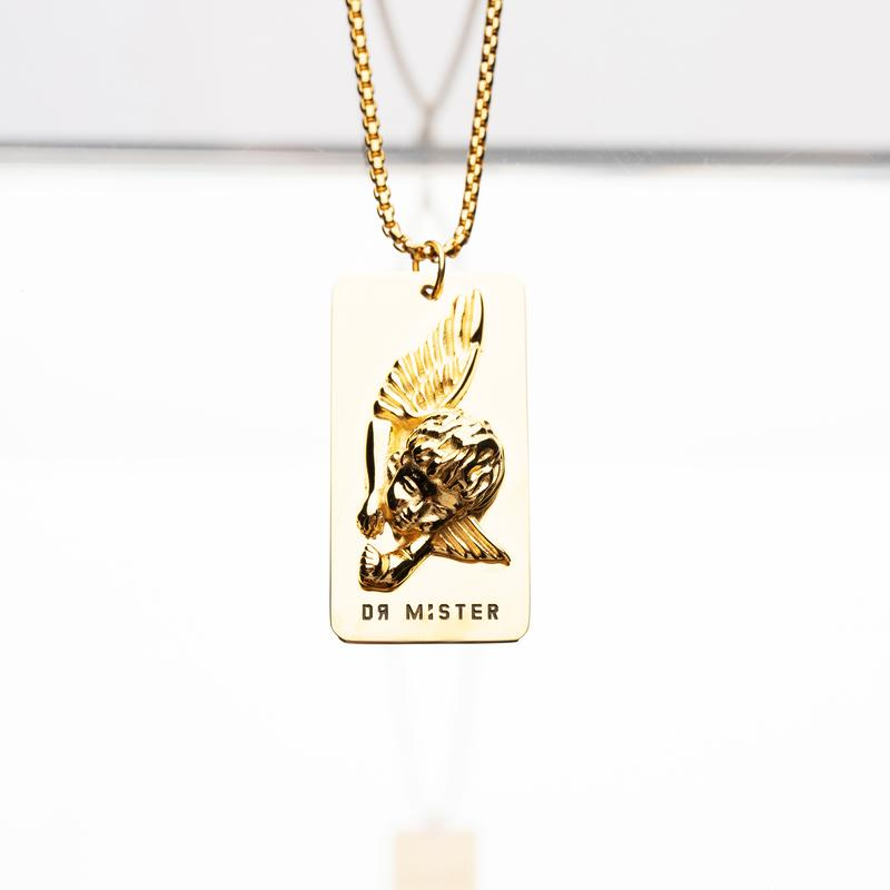 Dr Mister | Good Time At Ease Sleeping Angel Pendant Necklace Gold