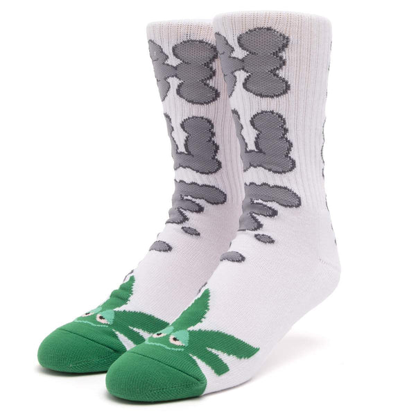 HUF | Huf N Puff Buddy Socks White