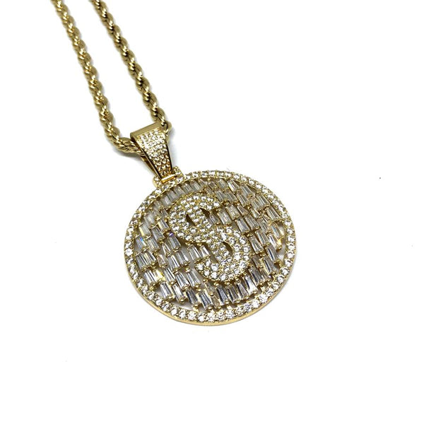EK | Dollar Sign Necklace Gold