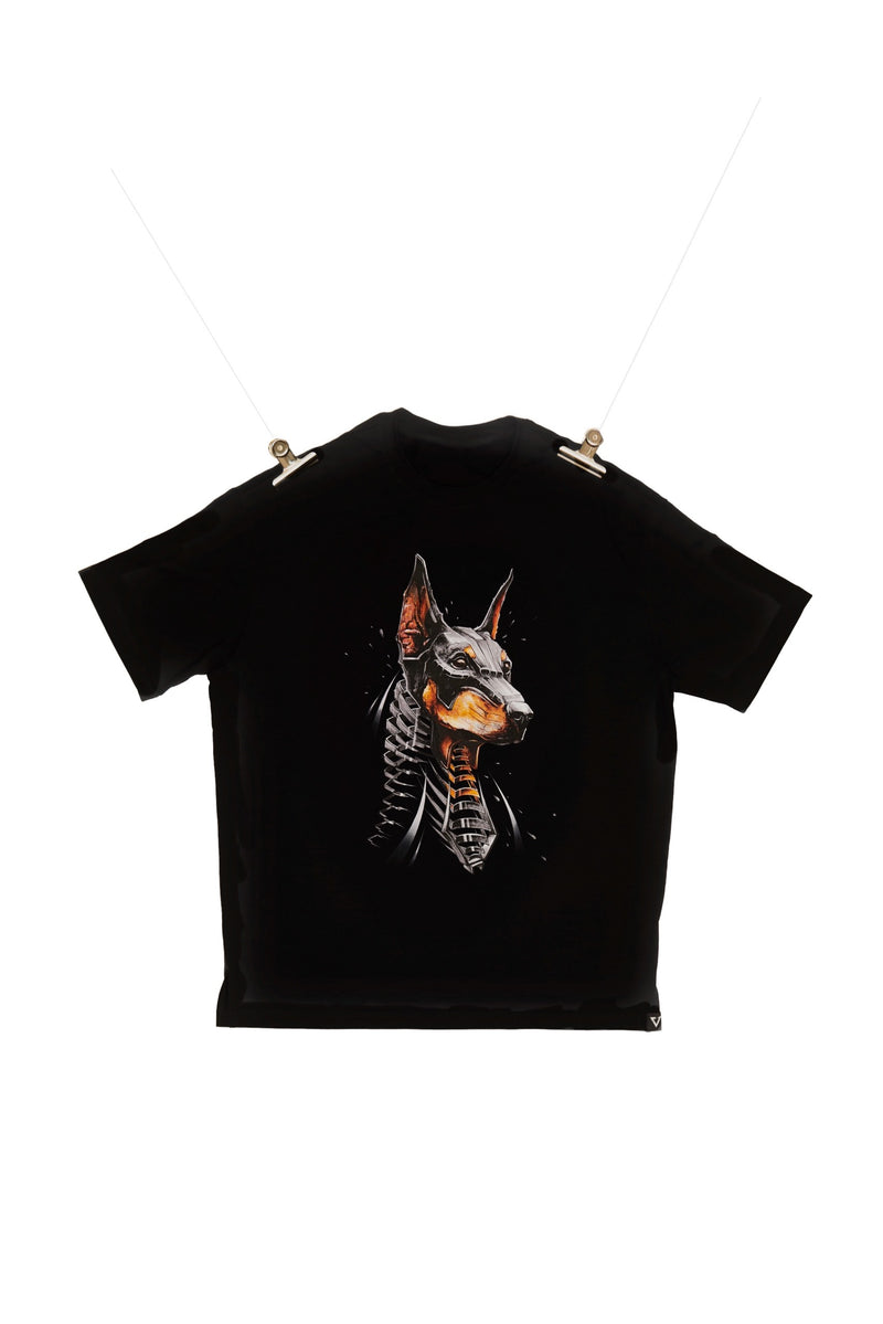 Eglaf | Doberman Oversized Tee Black