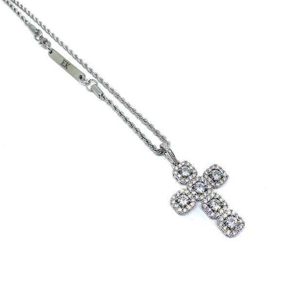 EK | Iced Out Cross Necklace