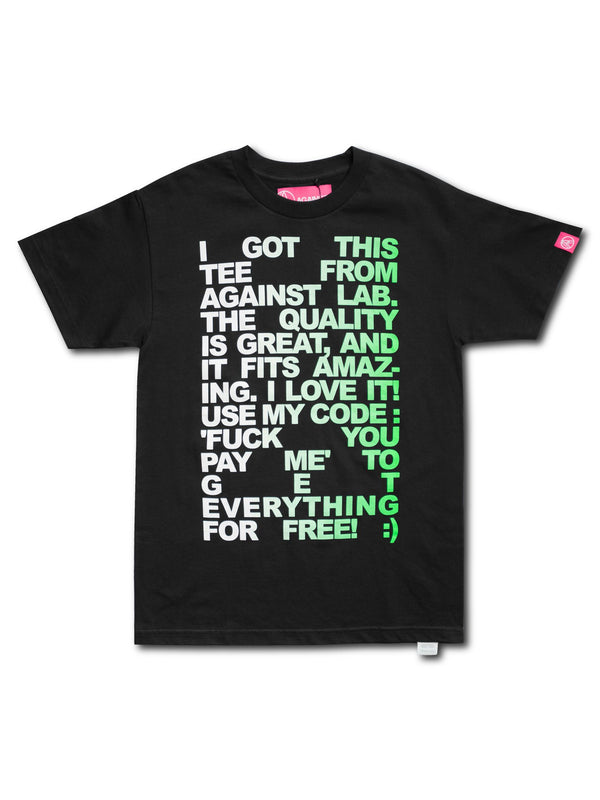 Against Lab | Influencer Tee Black