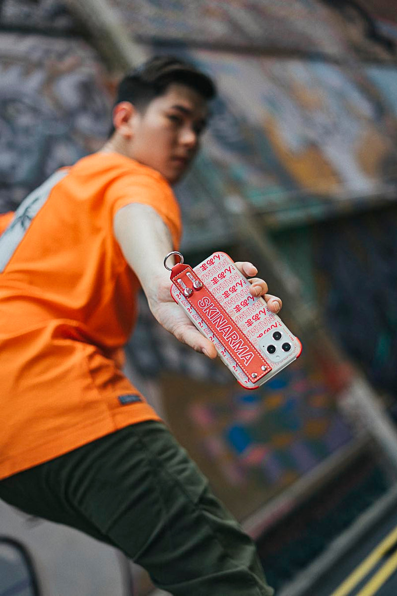 Skinarma | iPhone 12 Mini Kotoba With Strap Red