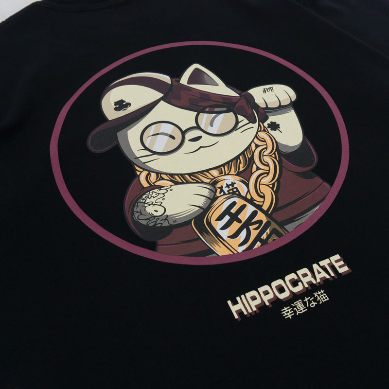 Hippocrate | Lucky Cat Tee Black