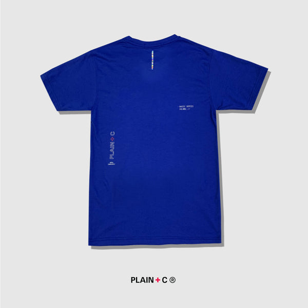 Plain + C | Essential Print Tee Blue