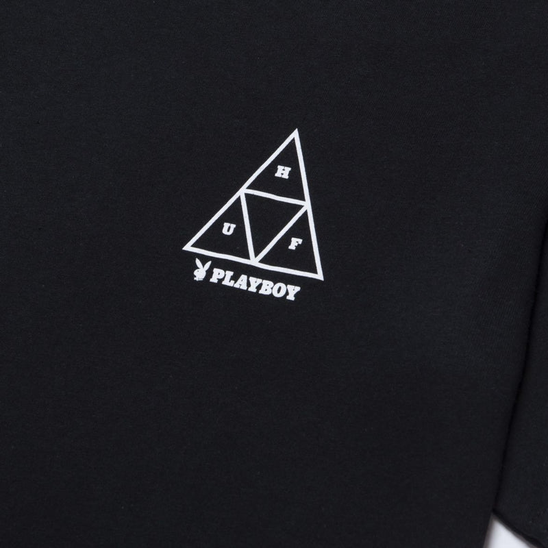 HUF x Playboy Playmate Triple Triangle Tee Black