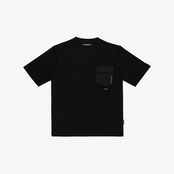 Dr Mister | Essential T-Pocket Oversized Tee Black/Black