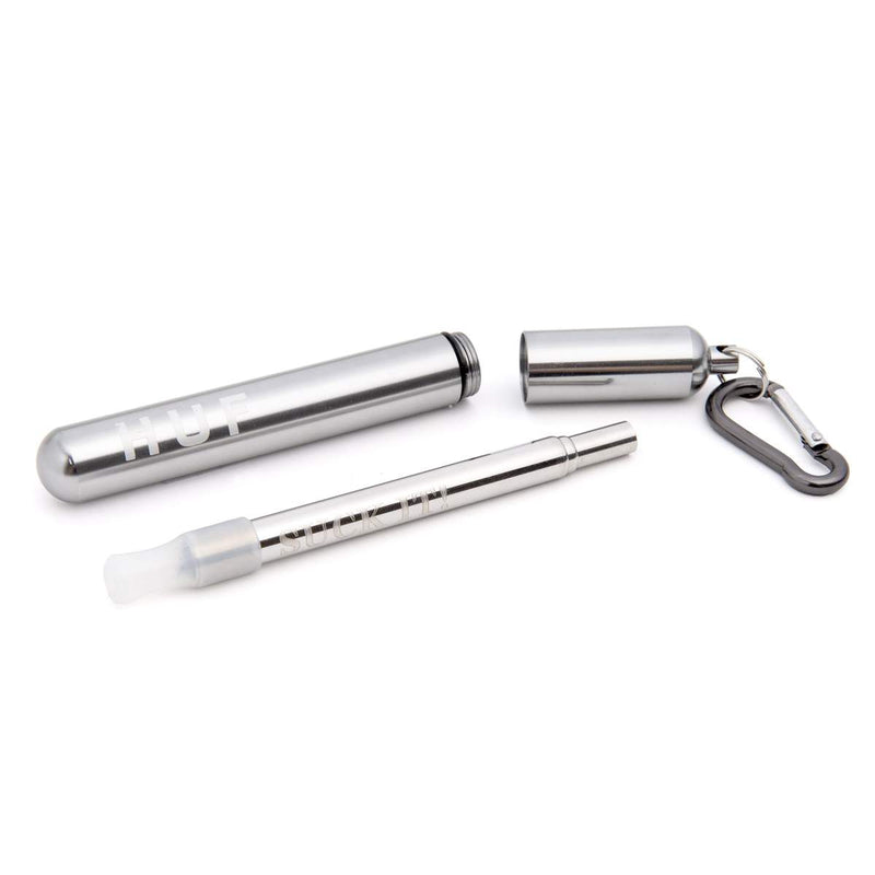 HUF | Suck It Reusable Straw Silver