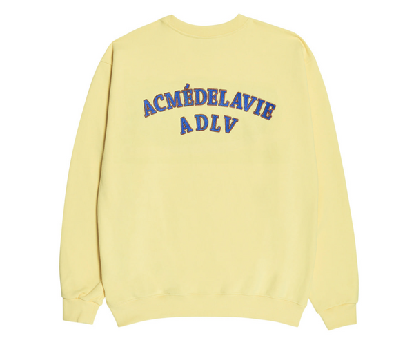 ADLV | Two Colors Embroidery Sweat Shirt Light Yellow