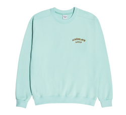 ADLV | Two Colors Embroidery Sweat Shirt Mint