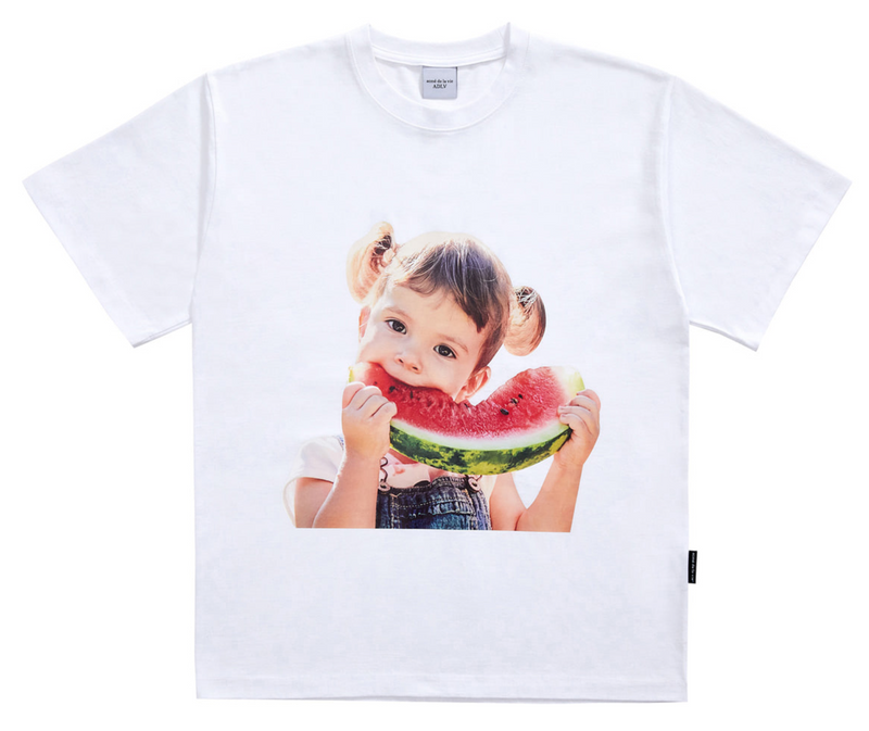 ADLV | Baby Face Watermelon Tee White
