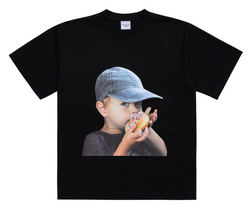 ADLV | Baby Face Cap Boy Tee Black