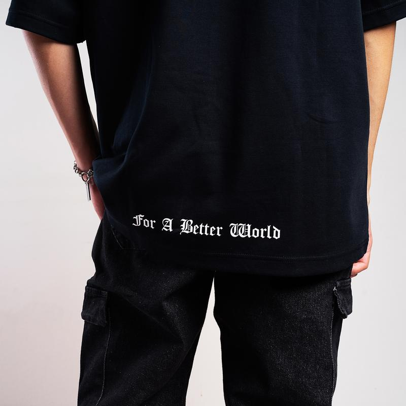 Dr Mister | The Famed Unknown Music Oversized Tee Black