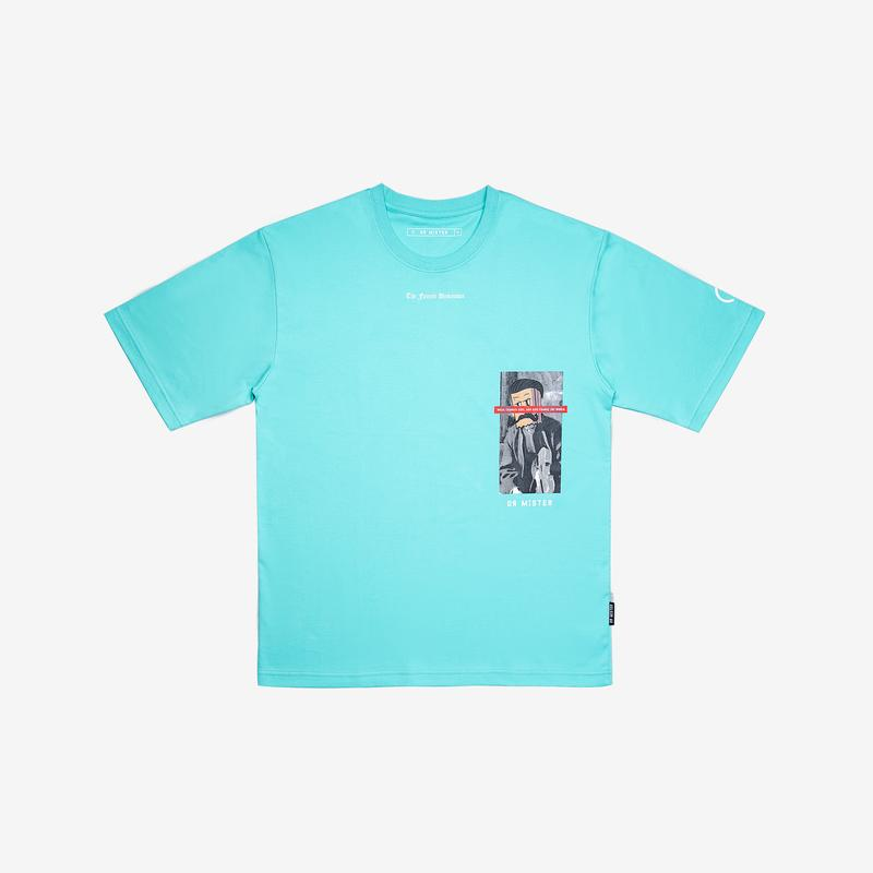 Dr Mister | The Famed Unknown Music Oversized Tee Mint Green
