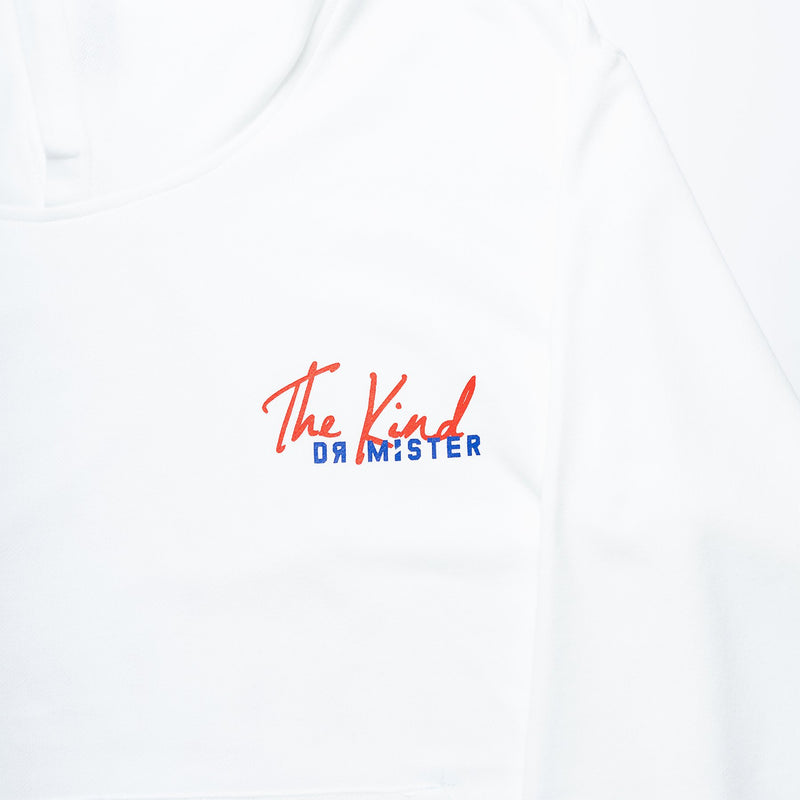 Dr Mister | The Kind Scallop Hoodie White