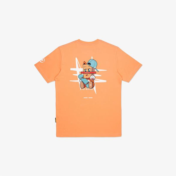 Dr Mister | The Fame Unknown Fortune Cat Tee Salmon
