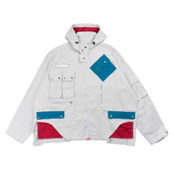 Domino's x TNTCO | Full Zipped Jacket Grey