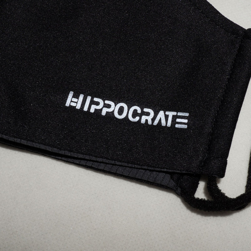 Hippocrate | Waterproof Reflective EMBLEM Mask Black