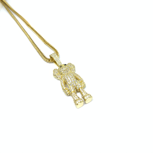 EK | Iced Out Figure Chain Gold