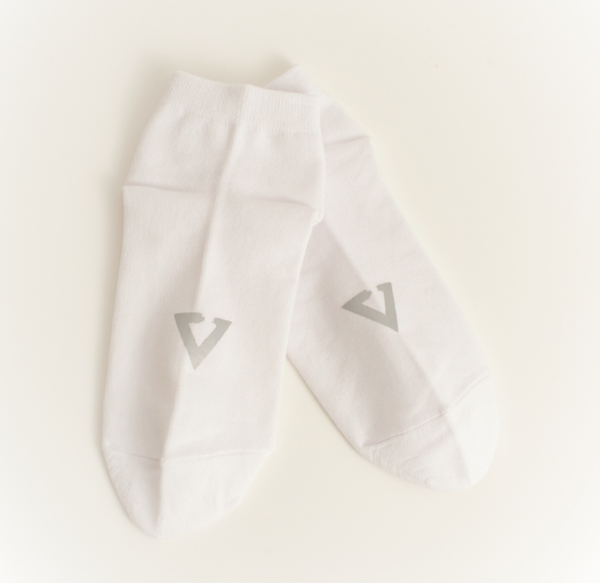 Eglaf | Reflective Ankle Socks White