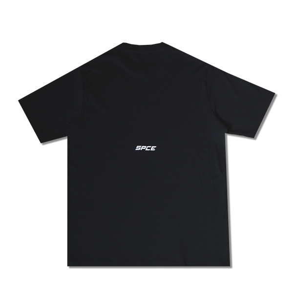 Space | Flower Logo Oversized Tee Black