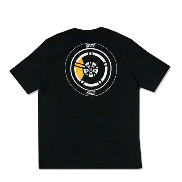Space | Mechanical Emb Tee Black