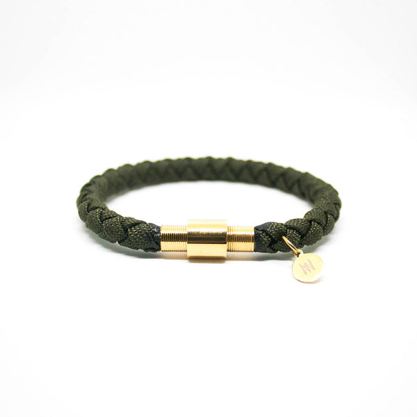 Touchwood | Braided Single Wrap Army Green