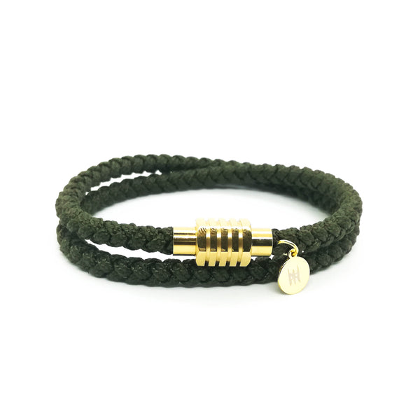 Touchwood | Braided Double Wrap V2 Army Green