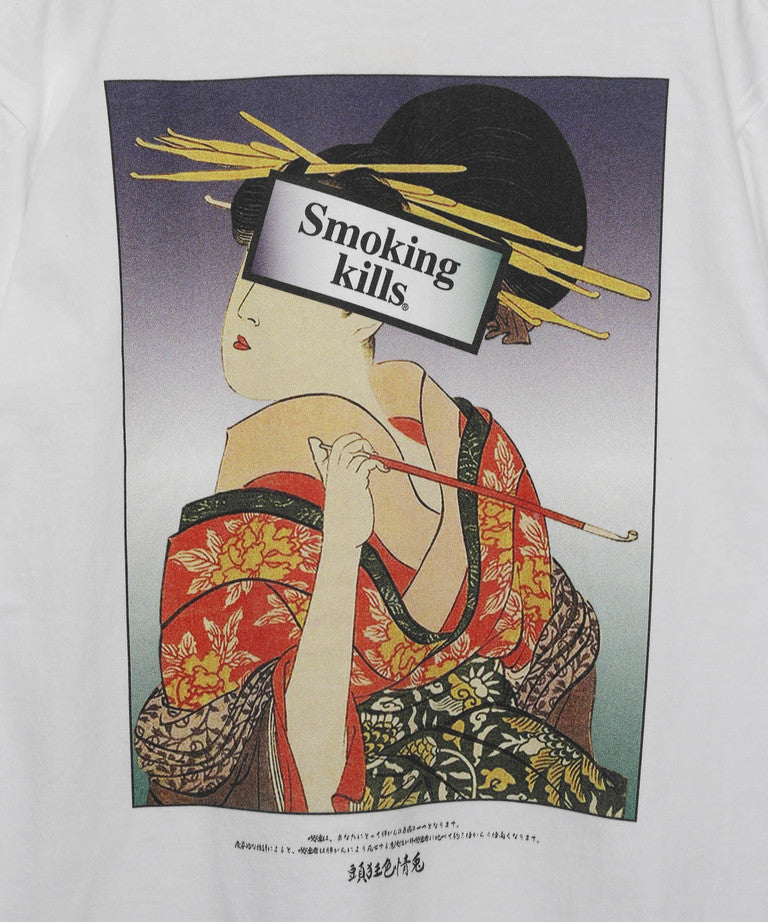FR2 | Ukiyoe Smoking Kill Tee White