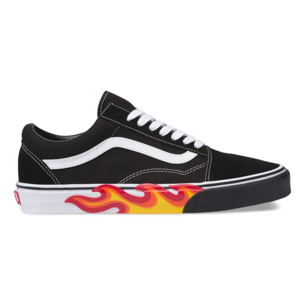 Vans | Old Skool Flame Cut Out Black Thru