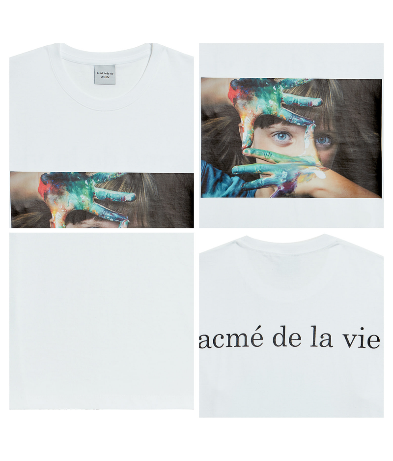 ADLV | Baby Face Paint Tee White
