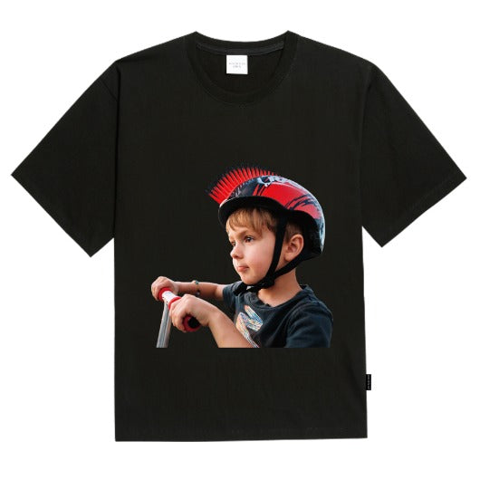 ADLV | Baby Face Mohican Helmet Tee Black