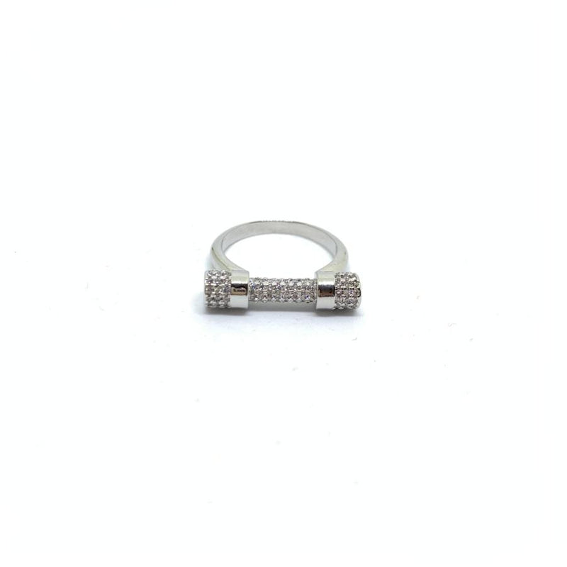 EK | Dumbell Ring Silver
