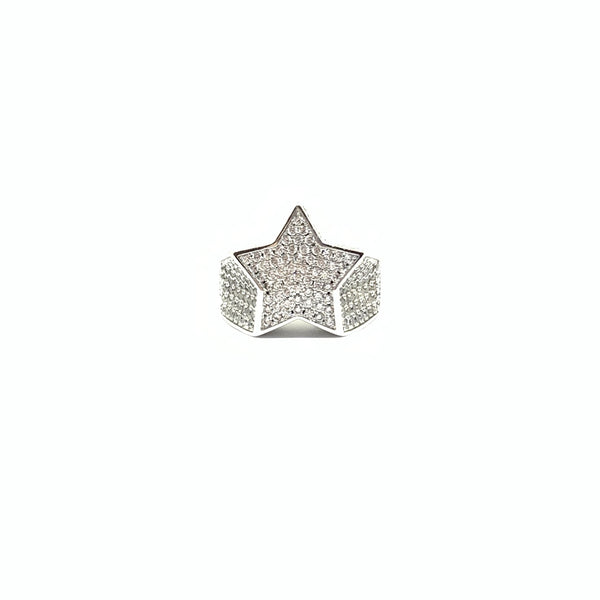 EK | Ice Out Star Ring Silver