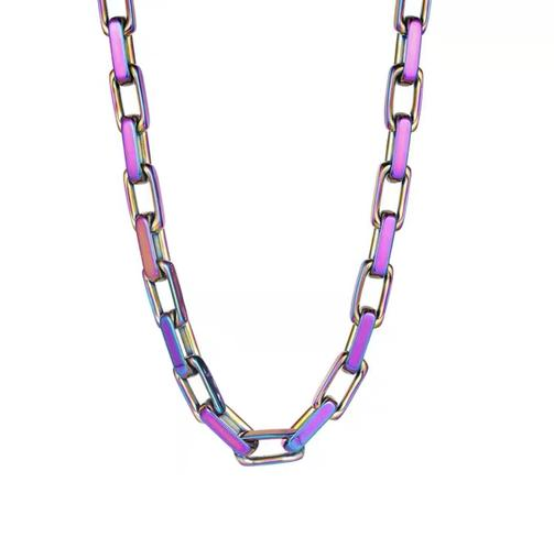 EK | Rainbow Steel Necklace