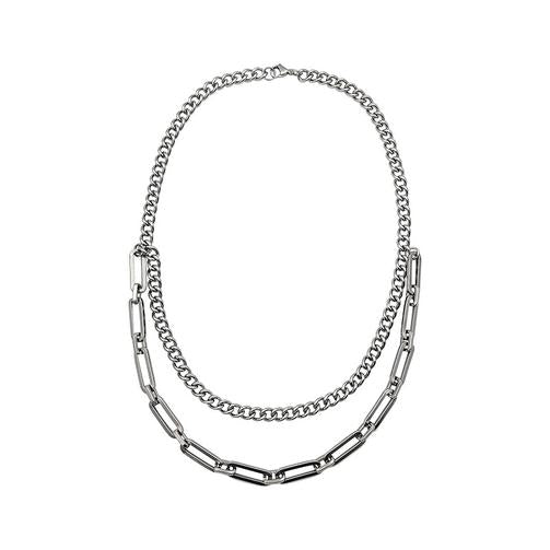 EK | Silver Double Stacks Necklace