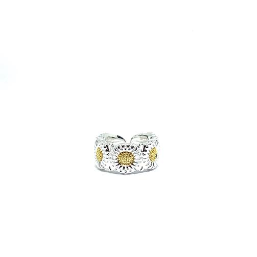 EK | Sunflower Ring Silver